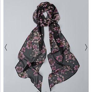White House black market Silk skinny oblong scarf